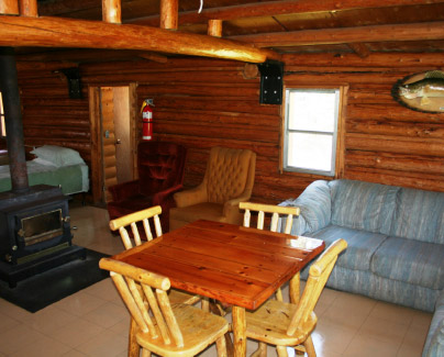Comfortable Interior of a Rowdy Lake Camp Cabin