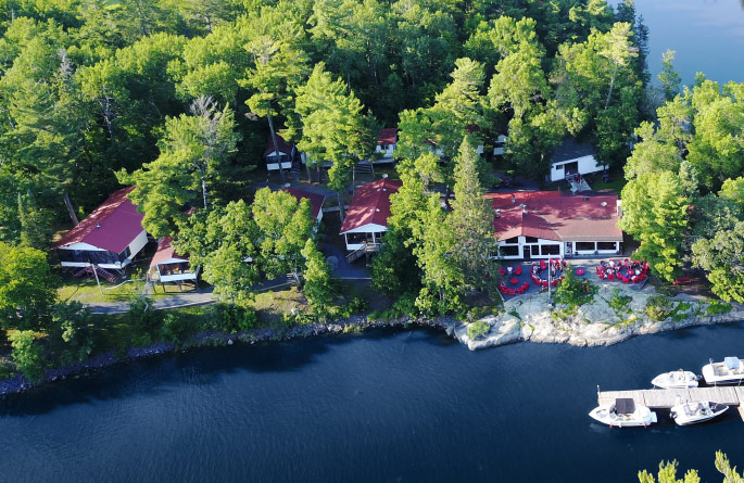 Crow Rock Lodge Aerial View
