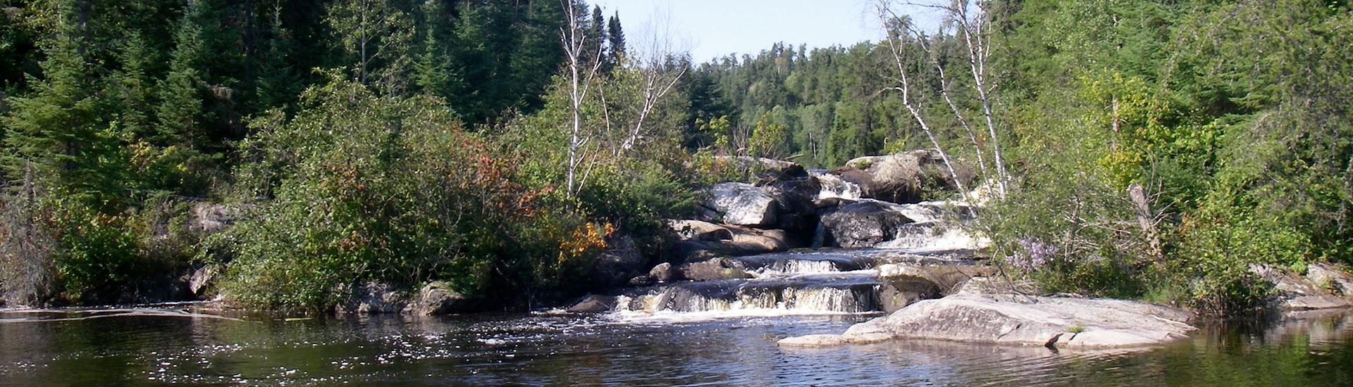 Rowdy Lake Chaval Falls