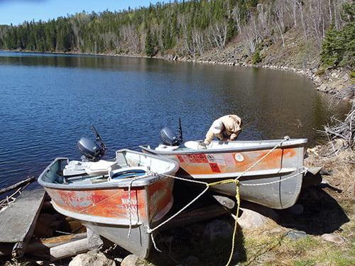 Boat Caches on Joyce Lake