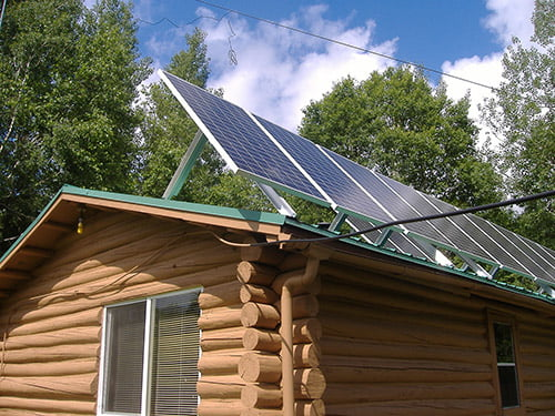 Cabin with 24 Hour Solar Power