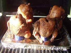 Drunken Chickens on the Grill