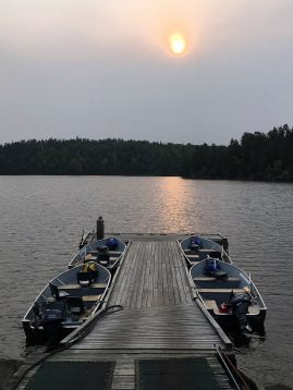 Rowdy Lake Dock with Boats